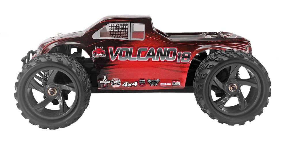 Redcat Racing 1/18 Volcano-18 Electric Monster Truck Red