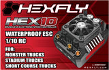 HexFly HX-HEX10-120 1/10 Scale Waterproof Brushless ESC Speed Control