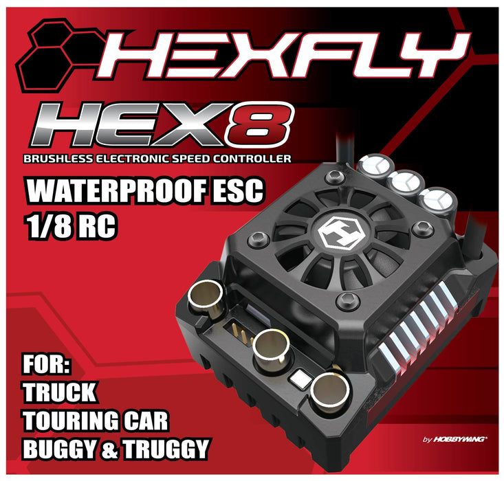 HexFly HX-HEX8-150 1/8 Scale Brushless Waterproof ESC Speed Control