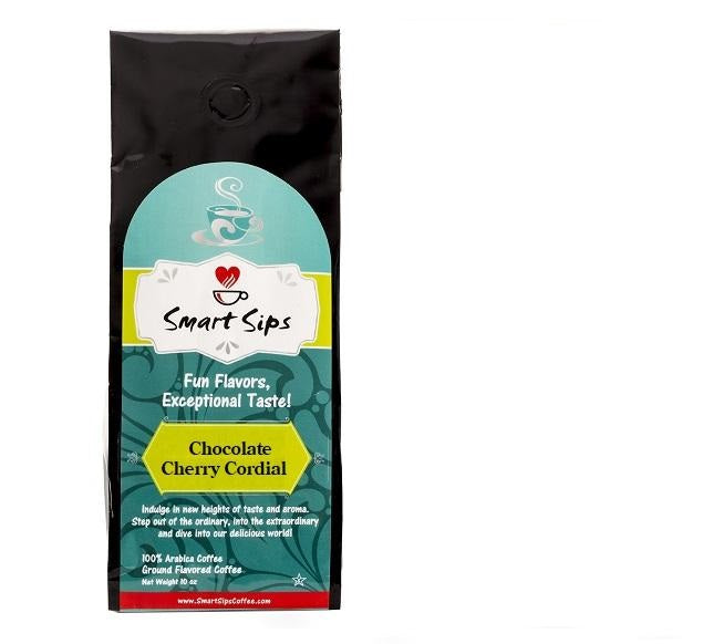 Chocolate Cherry Cordial, Flavored Medium Roast Ground Gourmet Coffee