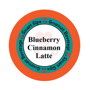 Blueberry Cinnamon Latte, Smart Sips Coffee, flavored coffee, latte, cappuccino, one step latte, kcup, k-cup, k cup, single serve, pods, kosher