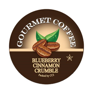 blueberry cinnamon crumble coffee, smart sips coffee, blueberry, flavored coffee, kcup, k-cup, k cup, single serve, pods, no sugar, no carb, gluten free, kosher
