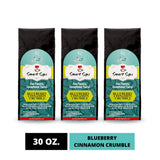 smart sips coffee, blueberry cinnamon crumble, ground coffee, gourmet coffee, flavored coffee, arabica coffee, 30 ounce