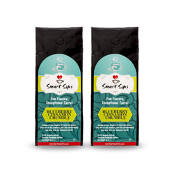 smart sips coffee, blueberry cinnamon crumble, ground coffee, gourmet coffee, flavored coffee, arabica coffee