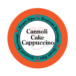 Cannoli Cake Cappuccino, Smart Sips Coffee, flavored gourmet cappuccino, gourmet flavored beverage, single-serve, single serve, keurig machine compatible, kcup, k cup, k-cup, pod, dessert inspired, low carb, low calorie, low sugar