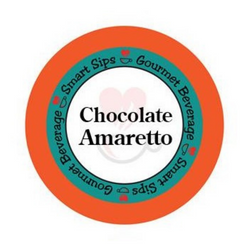 smart sips coffee, chocolate amaretto flavored gourmet coffee, flavored coffee, gourmet coffee, single serve, pods, coffee pods, kcup, k-cup, k cup, keurig, 24 ct count, 48 ct, 72 ct