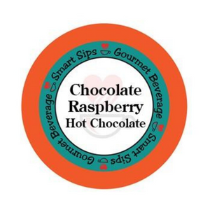 Chocolate Raspberry hot chocolate, hot cocoa, Gourmet Flavored Coffee, Flavored Coffee, Coffee, Smart Sips Coffee, Single Serve, kcup, k cup, k-cup, pod, pods, keurig, kosher, gluten free