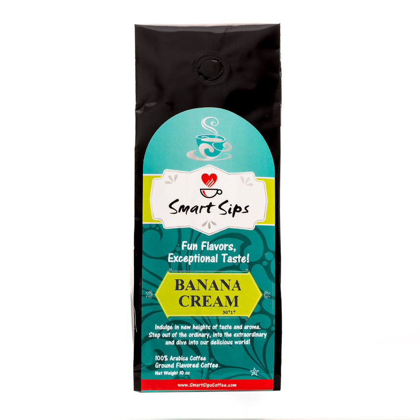smart sips ground flavored coffee banana cream