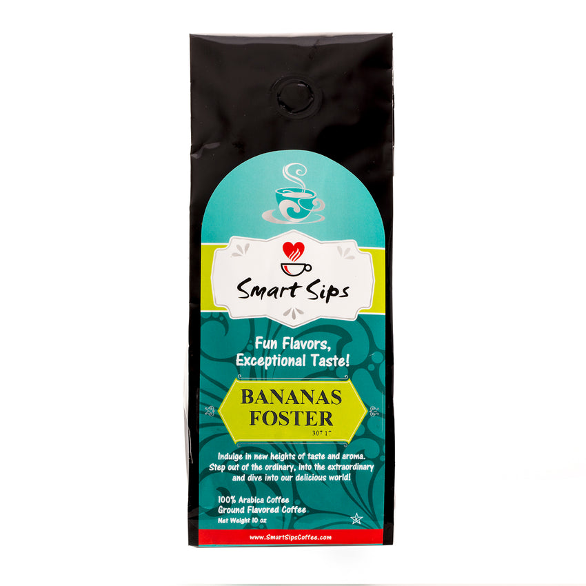 smart sips ground flavored coffee bananas foster
