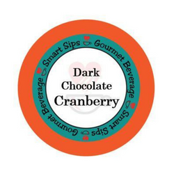 Dark Chocolate Cranberry Gourmet Flavored Coffee, Flavored Coffee, Coffee, Smart Sips Coffee, Single Serve, kcup, k cup, k-cup, pod, pods, keurig, kosher, no sugar, no carb, gluten free