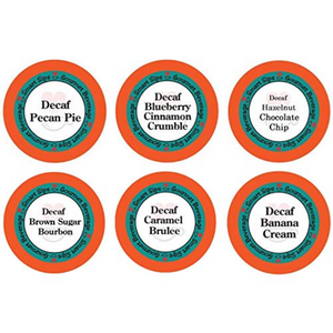 Decaf Flavor Lovers Variety Pack, decaffeinated, no caffeine, Gourmet Flavored Coffee, Flavored Coffee, Coffee, Smart Sips Coffee, Single Serve, kcup, k cup, k-cup, pod, pods, keurig, kosher, no sugar, no carb, gluten free