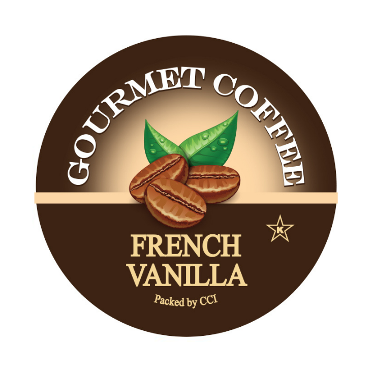 French Vanilla Gourmet Flavored Coffee, Flavored Coffee, Coffee, Smart Sips Coffee, Single Serve, kcup, k cup, k-cup, pod, pods, keurig, kosher, no sugar, no carb, gluten free