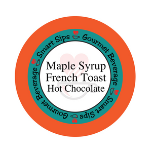 maple syrup french toast hot chocolate, hot cocoa, flavored gourmet hot chocolate, low sugar, low carb, smart sips coffee, kosher