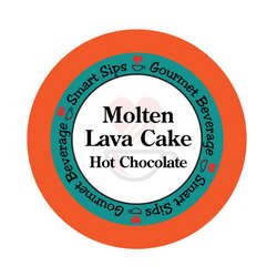 molten lava cake hot chocolate, smart sips coffee, gourmet flavored hot cocoa, kosher, gluten free, low sugar, low carb, single serve, k cup, kcup, k-cup, pod, pods, keurig
