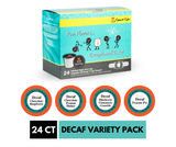 Decaf Coffee Variety Sampler Pack, for Keurig K-cup Machines, Decaf Chocolate Peanut Butter, Decaf Blueberry Cinnamon Crumble, Decaf Pecan Pie, Decaf Chocolate Raspberry