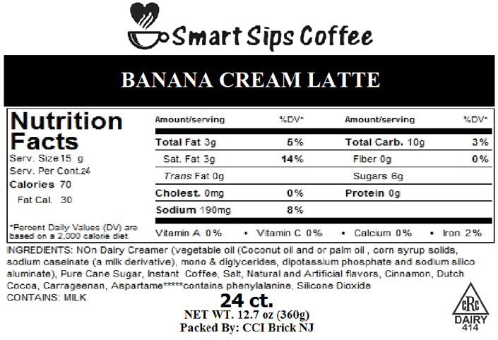 Banana Cream Latte, Gourmet Latte Pods For Keurig K-cup Brewers