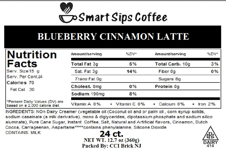 Blueberry Cinnamon Latte, Compatible With All Keurig K-cup Brewers