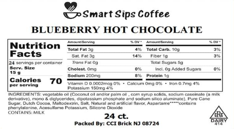 Blueberry Hot Chocolate, 24 Count for Keurig K-cup Brewers