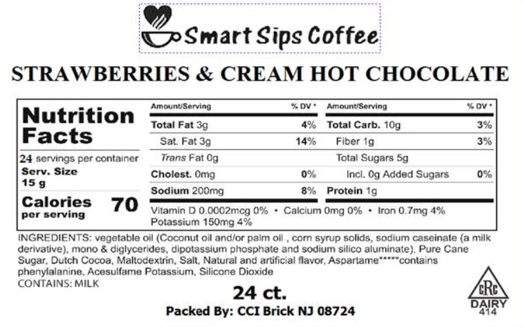 Strawberries & Cream Hot Chocolate, for Keurig K-cup Brewers