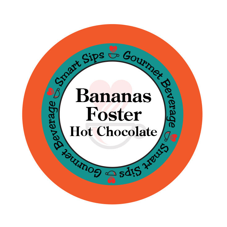 smart sips bananas foster hot chocolate single serve cups keurig kpcup