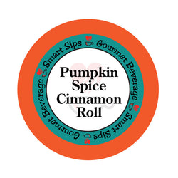 smart sips coffee, pumpkin spice cinnamon roll coffee, gourmet coffee, flavored coffee, pumpkin, fall flavors, keurig compatible, pod, pods, k cup, kcup. k-cup, keto, sugar-free, carb-free, kosher, parve, ww
