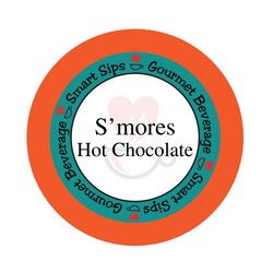 smores hot chocolate, smart sips coffee, smores flavored gourmet hot cocoa, kosher, gluten free, low carb, low sugar, low calorie, single serve, kcup, k cup, k-cup, keurig