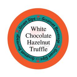 white chocolate hazelnut truffle gourmet flavored coffee, smart sips coffee, flavored coffee, kosher, gluten free, no sugar, no carb, carb free, sugar free, single serve, pod, pods, kcup, k-cup, k cup, keurig