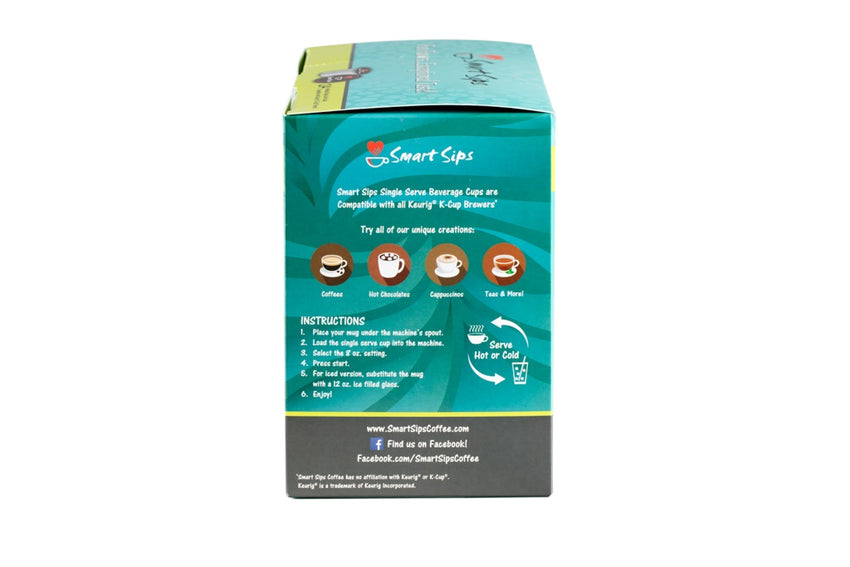 Decaf Hazelnut Chocolate Chip Flavored Coffee, Single Serve Cups Compatible With All Keurig K-cup Brewers