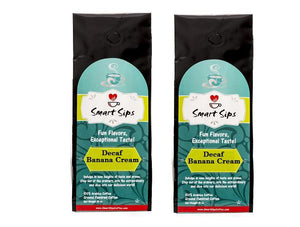 Decaf Banana Cream, Flavored Medium Roast Ground Gourmet Arabica Coffee