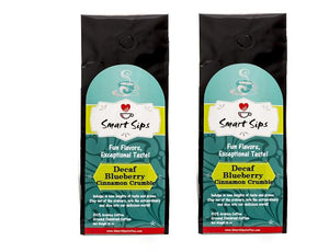 Decaf Blueberry Cinnamon Crumble, Flavored Medium Roast Ground Gourmet Arabica Coffee