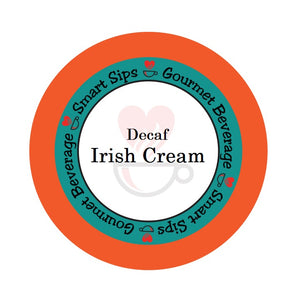 smart sips decaf decaffeinated irish cream coffee kcups k-cup keurig