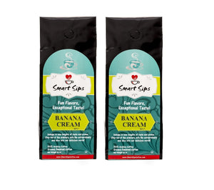 banana cream gourmet medium roast flavored coffee arabica smart sips