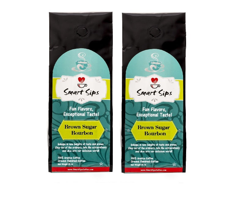 brown sugar bourbon ground medium roast flavored coffee smart sips coffee