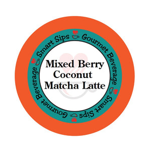 Mixed Berry Coconut Matcha Latte, Single Serve Cups for Keurig K-cup Machines, 24 Count