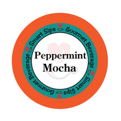 Peppermint mocha, coffee, single serve, kcup, k cup, k-cup, keurig, smart sips coffee