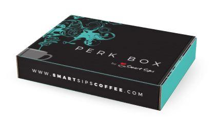 smart sips coffee, coffee, ground coffee, flavored coffee, subscription, perk box
