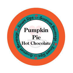 smart sips coffee, pumpkin pie hot chocolate, hot cocoa, hot coco, gourmet flavored, single serve pod, pods, k cup, kcup, k-cup, keurig brewer compatible, landfill degradable, kosher, fall flavor, contains dairy