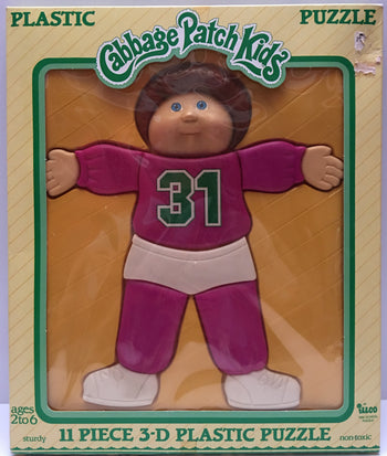 (TAS000824) - 1983 ILLCO Toy Cabbage Patch Kids 3-D Plastic Puzzle