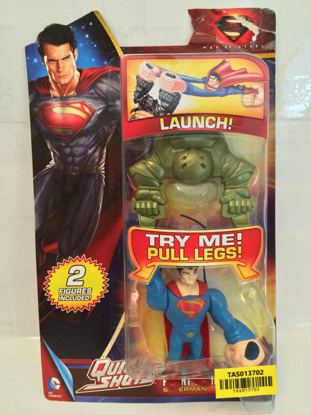 (TAS013702) - 2013 Mattel Quick Shots Flight Strike Superman, , Action Figure, Star Trek, The Angry Spider Vintage Toys & Collectibles Store  - 1