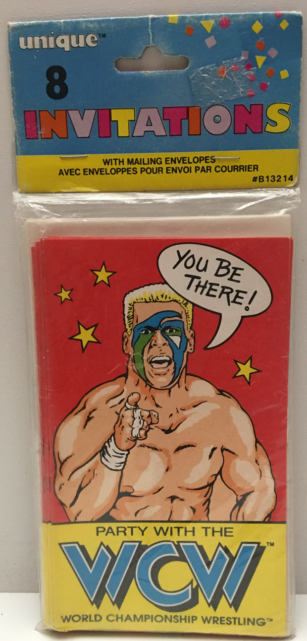 (TAS000201) - 1991 Unique WCW Wrestling Party Invitations - Sting