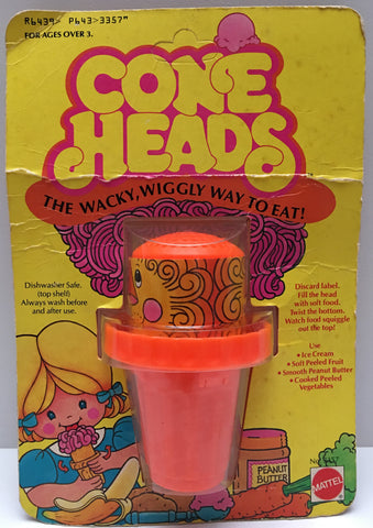 (TAS035400) - 1980 Mattel Cone Heads Food Squiggle Cup