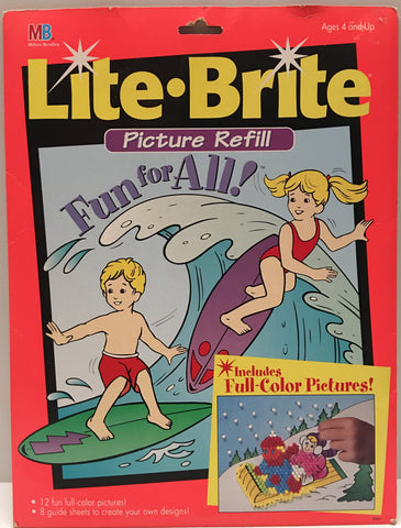 (TAS020193) - 1994 Milton Bradley Lite-Bright Picture Refill Fun For All!