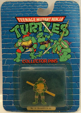 (TAS000012) - 1989 Teenage Mutant Ninja Turtle Collector Pin #12 Donatello, , Pins, TMNT, The Angry Spider Vintage Toys & Collectibles Store  - 1