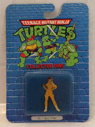 (TAS000056) - 1989 Teenage Mutant Ninja Turtle Collector Pin #7 April O'Neil, , Pins, TMNT, The Angry Spider Vintage Toys & Collectibles Store  - 1