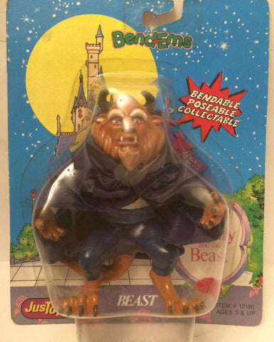 (TAS013551) - Disney JusToys Bend-Ems Figure - Beast (Beauty & the Beast), , Action Figure, Just Toys, The Angry Spider Vintage Toys & Collectibles Store  - 1