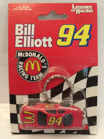 (TAS003038) - 1998 Legends of Racing McDonald's Bill Elliott Keychain, , Key Chain, NASCAR, The Angry Spider Vintage Toys & Collectibles Store  - 1