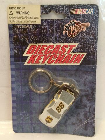 (TAS003002) - 2003 Winner's Circle 1:87 Scale Die Cast Key Chain - UPS #88, , Key Chain, NASCAR, The Angry Spider Vintage Toys & Collectibles Store  - 1