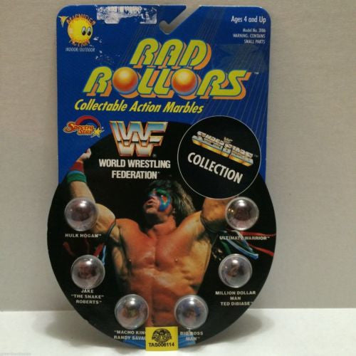 (TAS006114) - 1990 Spectra Star WWF Wrestling Rad Rollors Marbles - Hogan, , Marbles, Spectra Star, The Angry Spider Vintage Toys & Collectibles Store