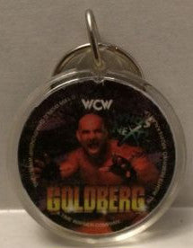 (TAS003286) - WCW WWF WWE Wrestling Circle Keychain - Goldberg, , Keychain, Wrestling, The Angry Spider Vintage Toys & Collectibles Store