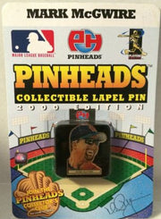 (TAS031381) - MLB - Pinheads Collectible Lapel Pin - Mark McGwire St Louis, , Pins, Pinheads, The Angry Spider Vintage Toys & Collectibles Store  - 2